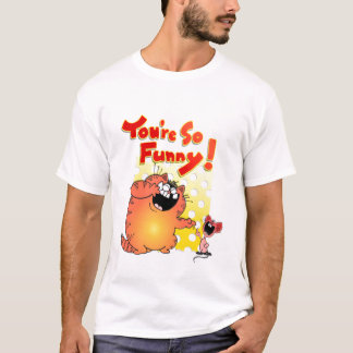 Funny Fat Yellow Cat Cartoon | Funny Cartoon Mouse T-Shirt