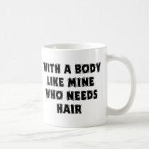 Funny Father's Day Bald Man Classic White Coffee Mug