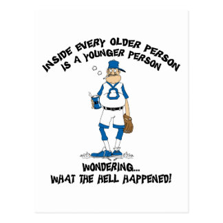 Funny Father's Day Baseball Dad Postcard