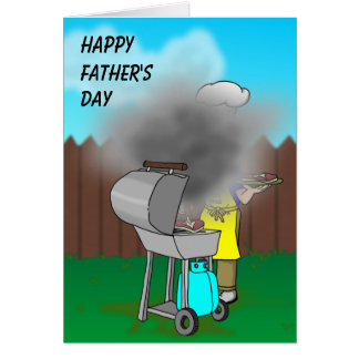 Funny Fathers Day - BBQ Card