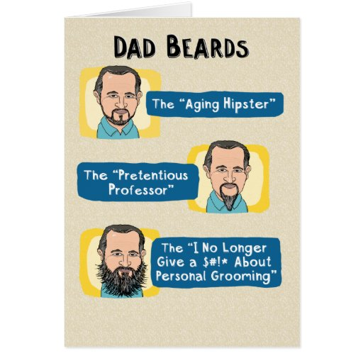 Funny Birthday Card For Dads Bad Dad Jokes Funny Card For: Funny Father's Day Card: Dad Beards Card