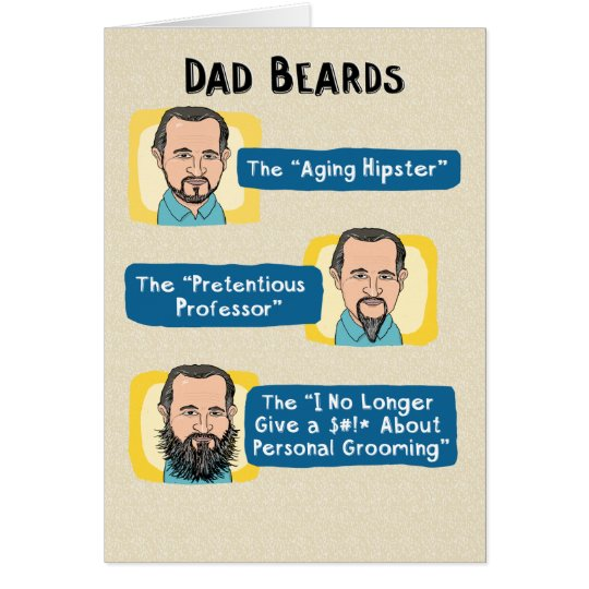 Funny Father S Day Card Dad Beards Card Zazzle Com
