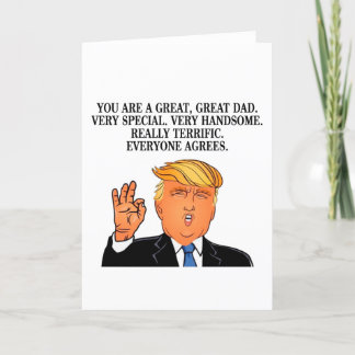 Funny Fathers Day Card - Donald Trump Card