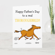 Funny Father's Day Card Especially 4 Horse Lovers
