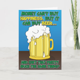 Funny Beer Lovers Father/'s Day Card for Dad