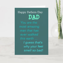 Funny Fathers Day Card For Dad and His Smelly Feet