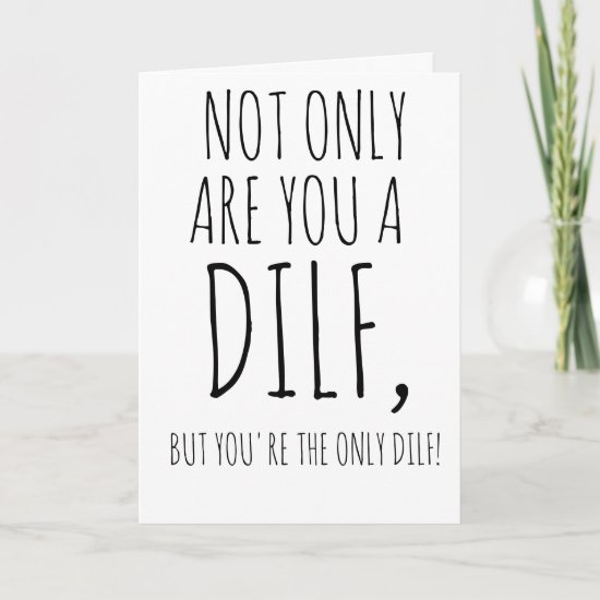 Funny Fathers Day Card For Husband DILF