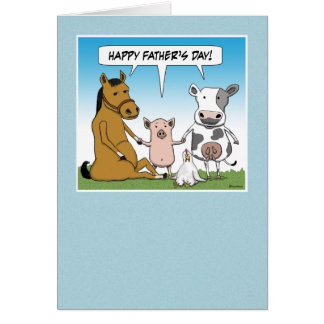 Funny Father's Day card: From the Herd