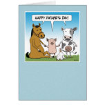 Funny Father's Day card: From the Herd Card