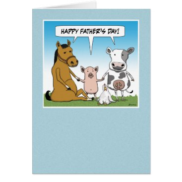 chuckink Funny Father's Day card: From the Herd Card