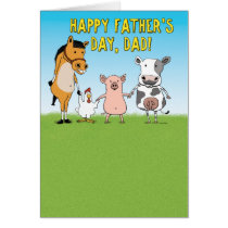 Funny Father's Day Card: Raised in a Barn Card