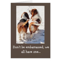 "Funny ""Father's Day Card"" w/Cute Basset Hounds Card"