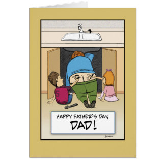 Funny Father's Day card: Work of Art Card