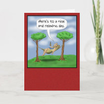 Funny Fathers Day Cards: Relaxing day Card