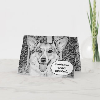 Funny Father's Day Corgi Card