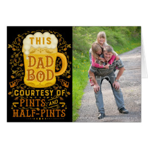 Funny Fathers Day Dad Bod Beer Personalized Photo Card