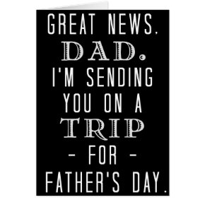 Funny Father's Day Dad Trip Old Hippie Humor Card