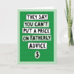 Funny Father's Day Fatherly Advice Card