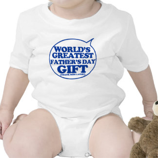 Funny Father's Day Gift for baby to wear Tee Shirt