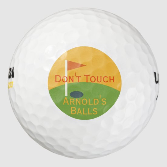 Funny Fathers Day Gift for the Golfer Dad Golf Balls