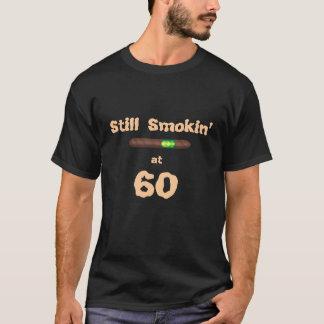 Funny Fathers Day GIFT TSHIRT Still Smokin at 60