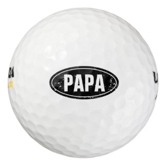 Funny Fathers Day golf ball set for dad | PAPA