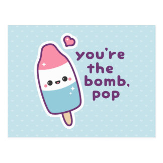 Funny Father's Day Popsicle Pun Postcard