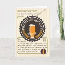 Funny Father's Day Retro Beer Label Brother-in-Law Card