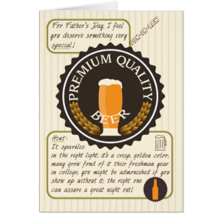 Funny Father's Day Retro Beer Label for Son In Law Card