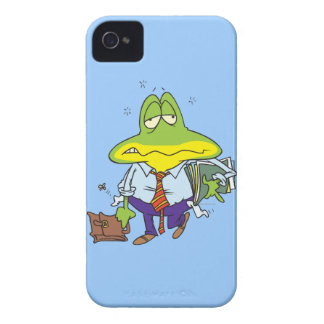 funny fatigued tired working man frog iPhone 4 cover