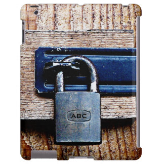 Funny Faux Barnwood and Padlock with Initials