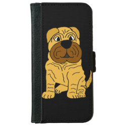 iPhone 6 Wallet Case with Shar-Pei Phone Cases design