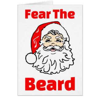 Funny Fear The Beard Santa Claus Card