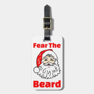 Funny Fear The Beard Santa Claus Tag For Luggage