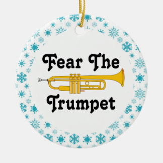 Funny Fear The Trumpet Music Band Christmas Ceramic Ornament