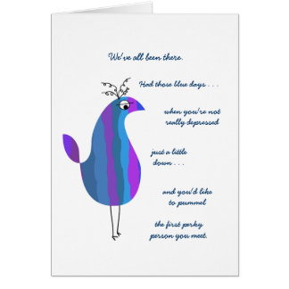 Funny Feathers - Chase the Blues Away Smile Card