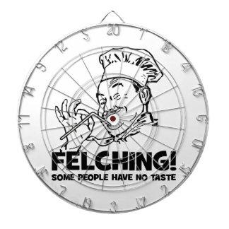 Funny Felching Felcher Gift Dartboard With Darts
