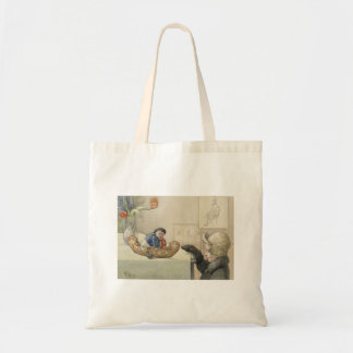 Funny Fellow Toy with Child Tote Bag