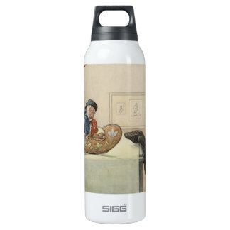 Funny Fellow Toy with Child Insulated Water Bottle