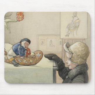 Funny Fellow Toy with Child Mouse Pad