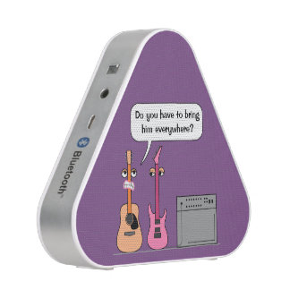 Funny Female Cartoon Guitar Music Bluetooth Speaker