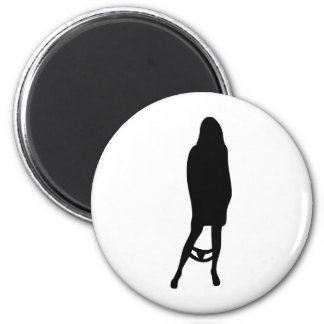 funny female silhouette icon magnet