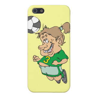 Funny Female Soccer Player and Gifts Case For iPhone 5