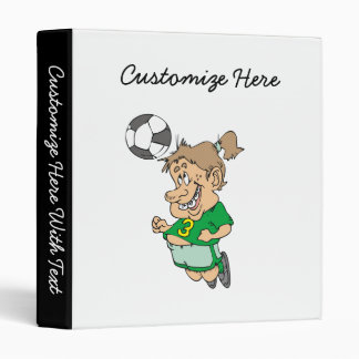 Funny Female Soccer Player Tshirts and Gifts 3 Ring Binder