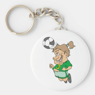 Funny Female Soccer Player Tshirts and Gifts Keychain