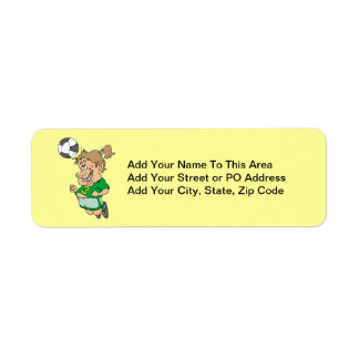 Funny Female Soccer Player Tshirts and Gifts Return Address Label