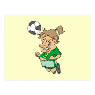 Funny Female Soccer Player Tshirts and Gifts Postcard