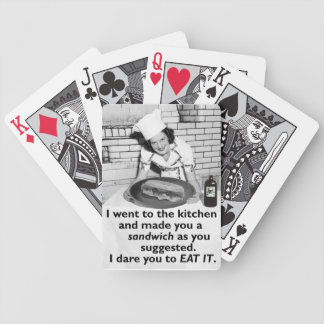 Funny Feminist Make Me a Sandwich Bicycle Playing Cards