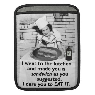 Funny Feminist Make Me a Sandwich Sleeve For iPads