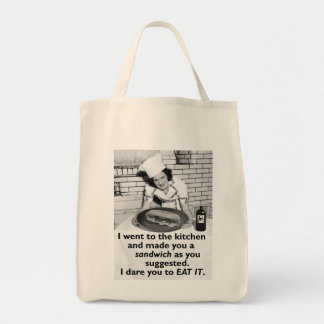 Funny Feminist Make Me a Sandwich Tote Bag